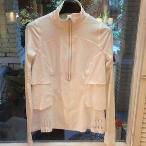 Lululemon half zip white top